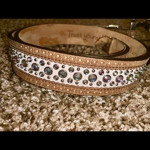 PINK Ariat Bling Western Belt!